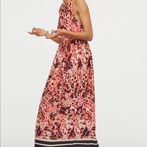 H&M long dress. Red patterned. Size 6 nwt.